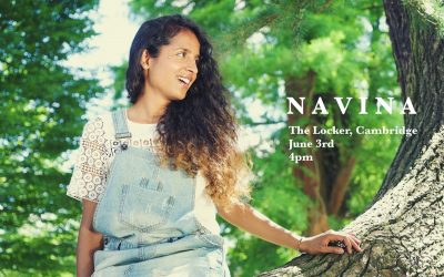 Navina. Fabulous rising star.  Singer and multi-instrumentalist. Sunday June 3rd 4pm
